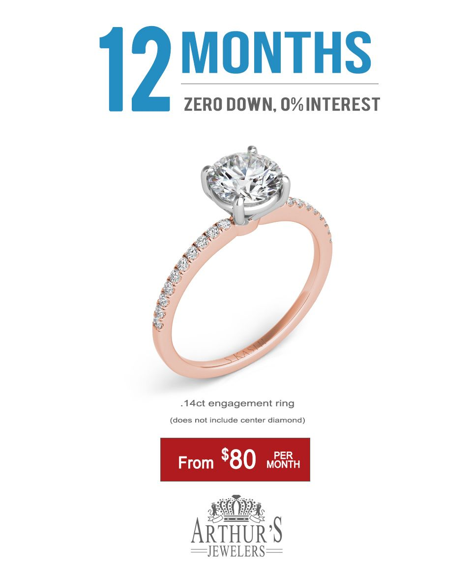 Unique And Simple Diamond Engagement Ring Available In Rose Gold Yellow Gold Or White Gold Pay Only 80 Per Month Engagement Rings Diamond Engagement Rings Popular Engagement Rings