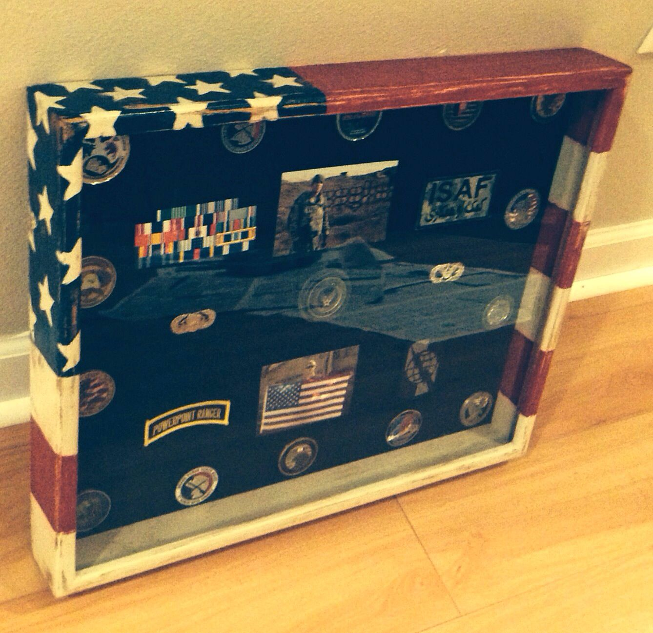 Military Shadow Box Army Wall Military Pinterest