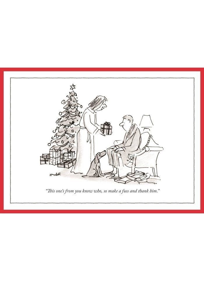 New Yorker Cartoon Christmas Card From You Know Who New Yorker Cartoons Christmas Cartoons Cartoon