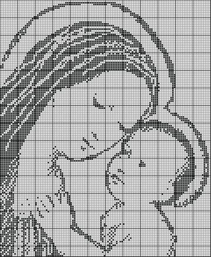 Schema Uncinetto Maria Con Gesu Bambino E Angeli Il Blog