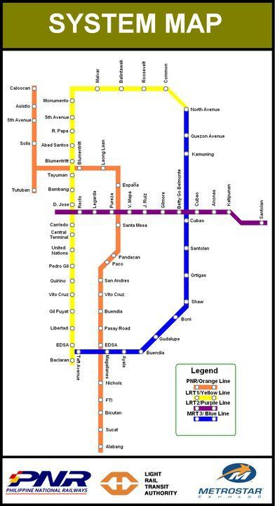 Manila Mrt Map Projects To Try Map Manila Philippines
