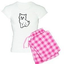 Adorable White Kitten Digit Pajamas