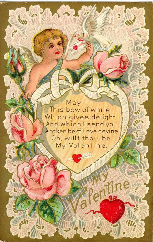 Free Victorian Valentine Cards: Hearts and Flowers ...