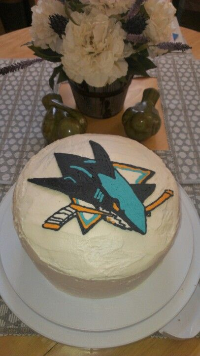 San Jose Sharks birthday cake for my husband Cakes I have made