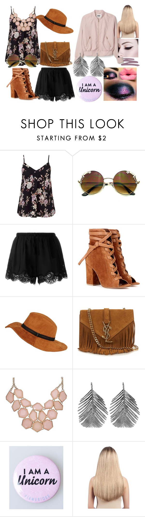 """""""Spring thing"""" by shiann-styles on Polyvore featuring Miss Selfridge, Twin-Set, Gianvito Rossi, Yves Saint Laurent, Alex Monroe, Extension Professional and Mally"""