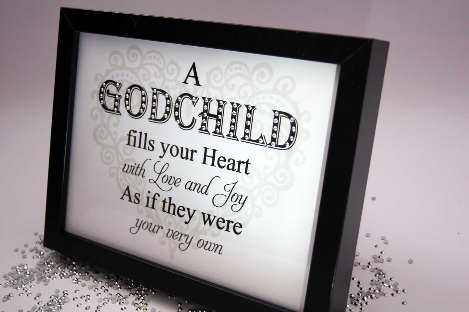 A Godchild Fills Your Heart, Sparkle Word Art Pictures
