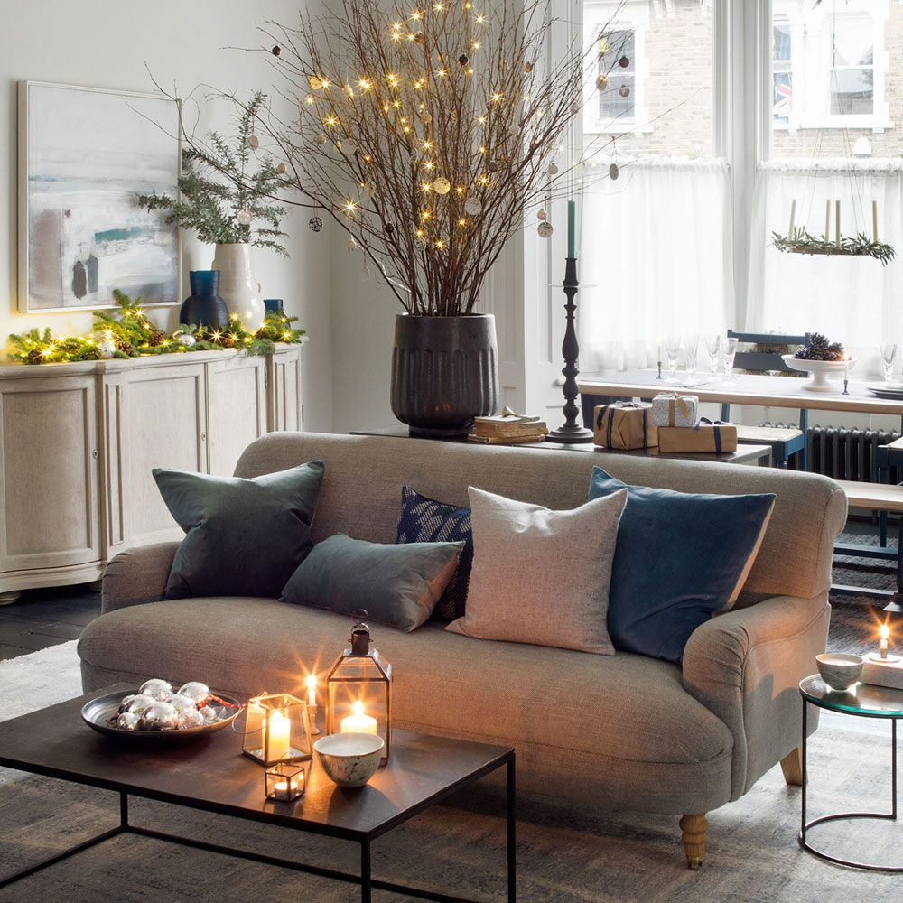 christmas lights decorating ideas - Decorating Living Room With Christmas Lights