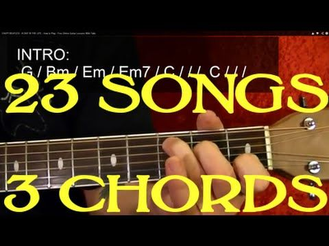 23 SUPER EASY Songs With Only THREE Easy Chords! - Guitar Lesson ...
