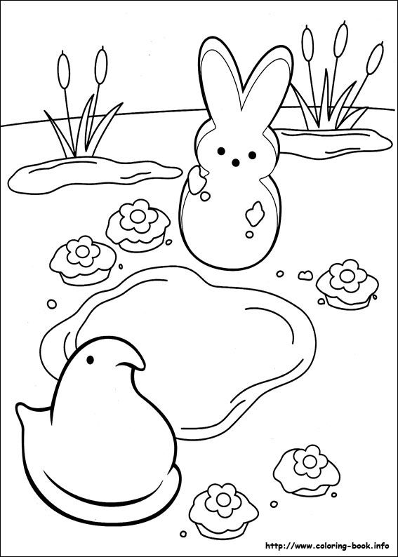Marshmallow Peeps coloring picture Coloring Pages Pinterest - resume rabbit