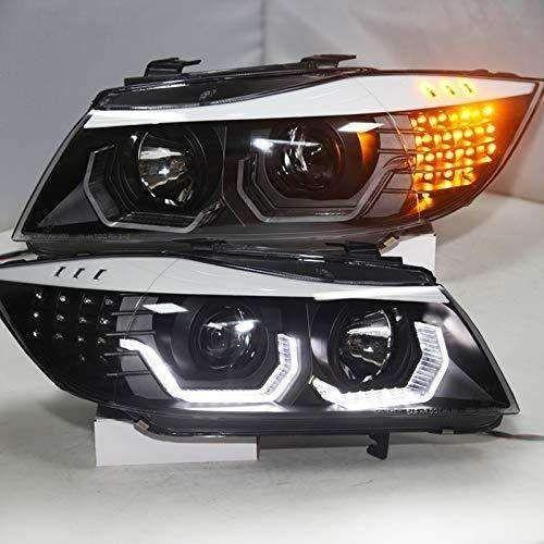CUSTOM Headlights BMW E90 330I 320I 318i Angel Eyes SN ...