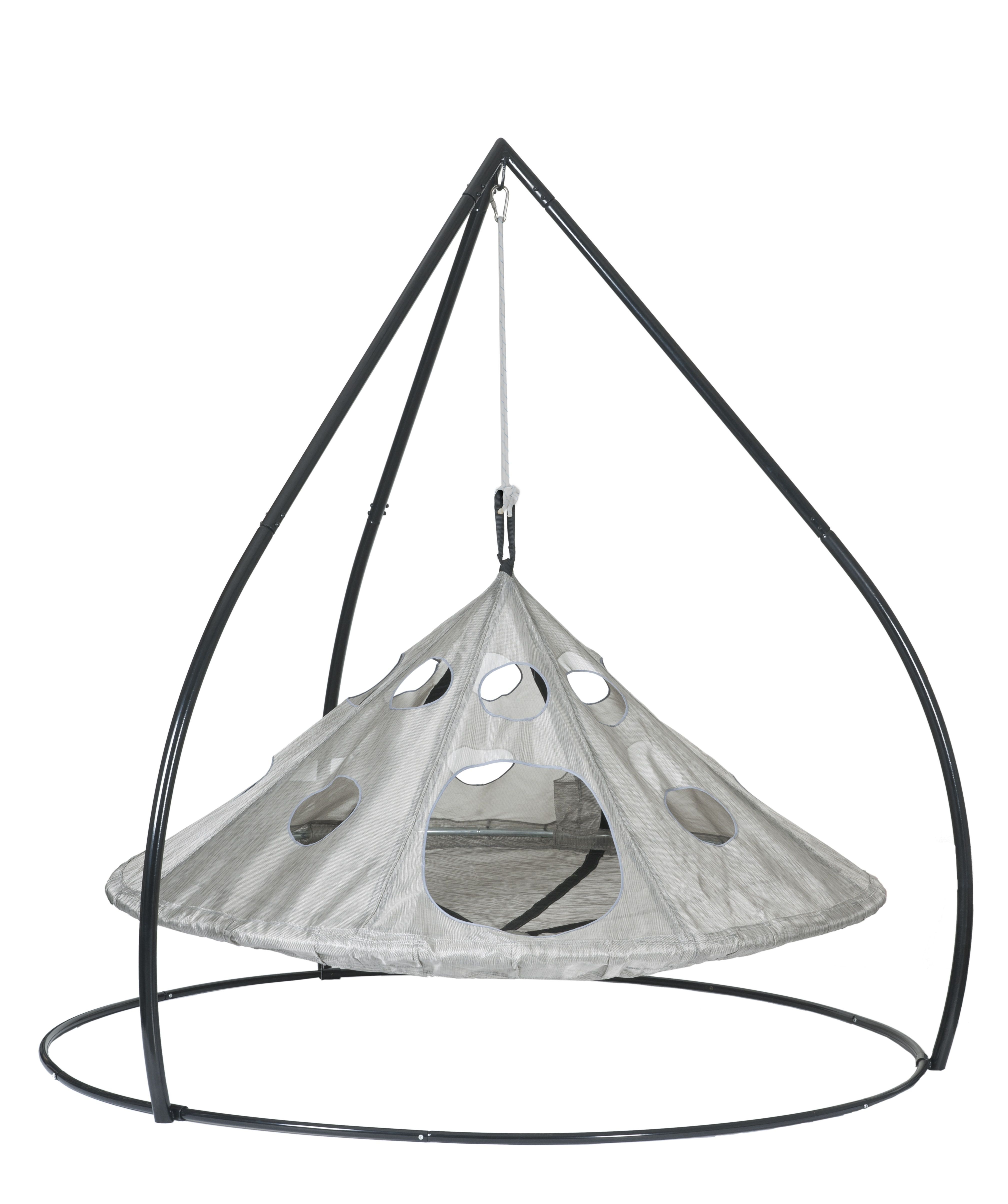 UFO Hanging Chair Silver