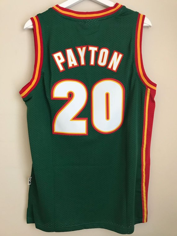 6a4c280eae61 Gary Payton  20 Seattle SuperSonics Basketball Vintage Jersey Men s ...