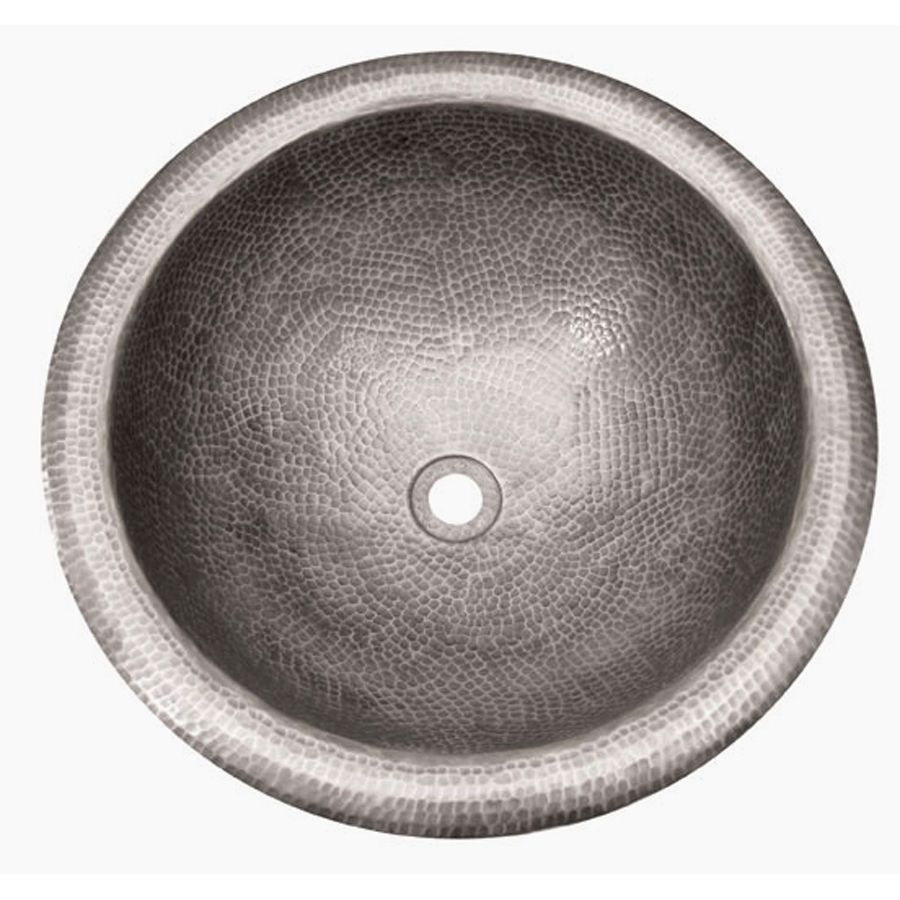 Barclay Hammered Pewter Copper Drop In Round Bathroom Sink With Overflow Drain 12 In X 12 In Lowes Com Bathroom Sink Copper Drops Drop In Bathroom Sinks