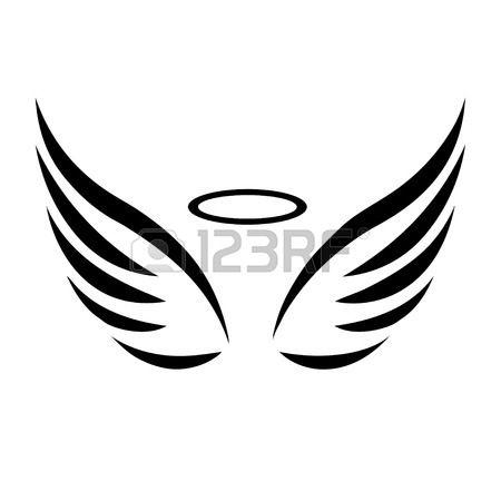 Vecteur esquisse d 39 ailes d 39 ange sur fond blanc clip art - Ailes d ange dessin ...