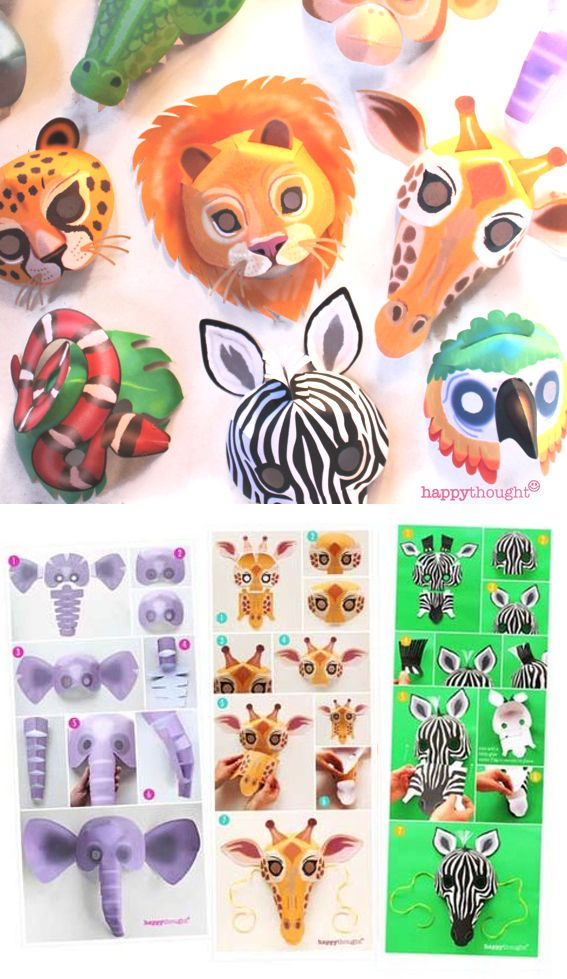 10 printable wild animal masks birthdat ideas pinterest animal