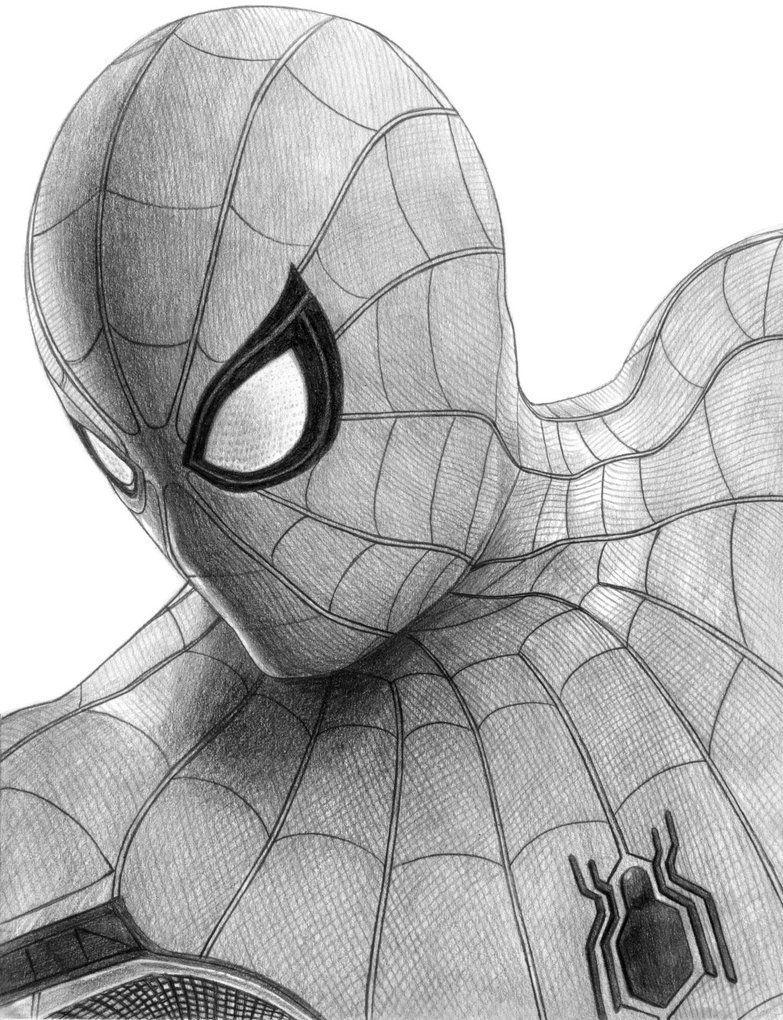 Increible Dibujo De Spiderman Por El Usuario Soulstryder210 En