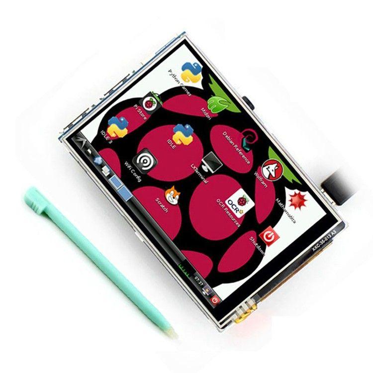Kaufen 3,5 zoll 26 P SPI TFT LCD Display mit Touch Panel 320*480 für RPi1/RPi2/raspberry pi3 Bord V3 (unterstützung Raspbian System) #touchpanel