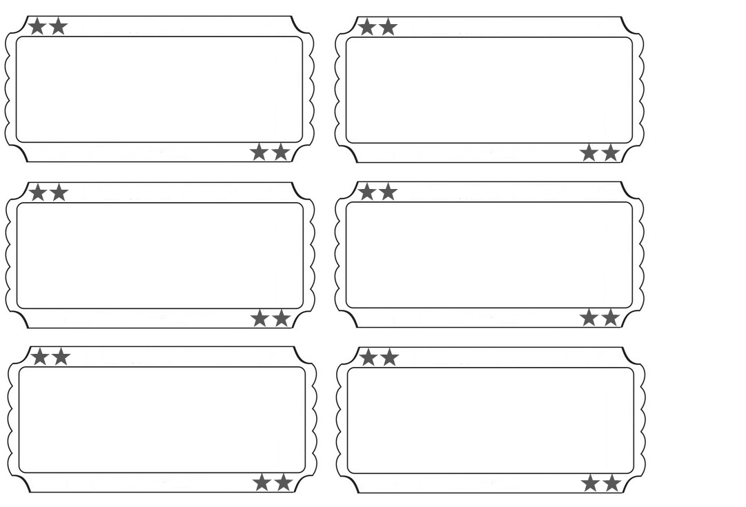 Superior Printable Raffle Tickets Blank Kids   Google Search  Blank Ticket Template