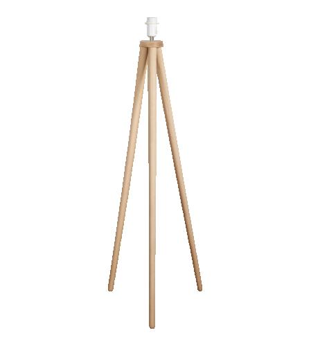 Trepied Pie de lámpara de pie 130cm de fresno | Lampara de