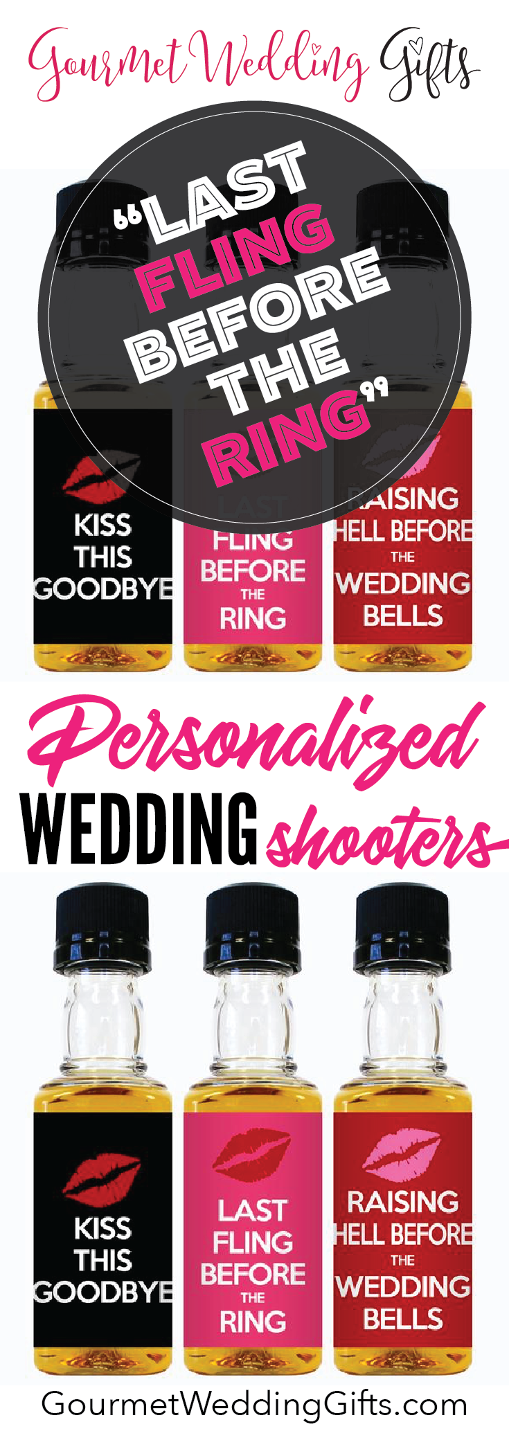 Wedding Mini Bottle Labels - Bachelorette Design | Mini bottles ...
