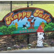 Dog Park in Pekin, IL  - Happy Tails Dog Park at Mineral Springs Park
