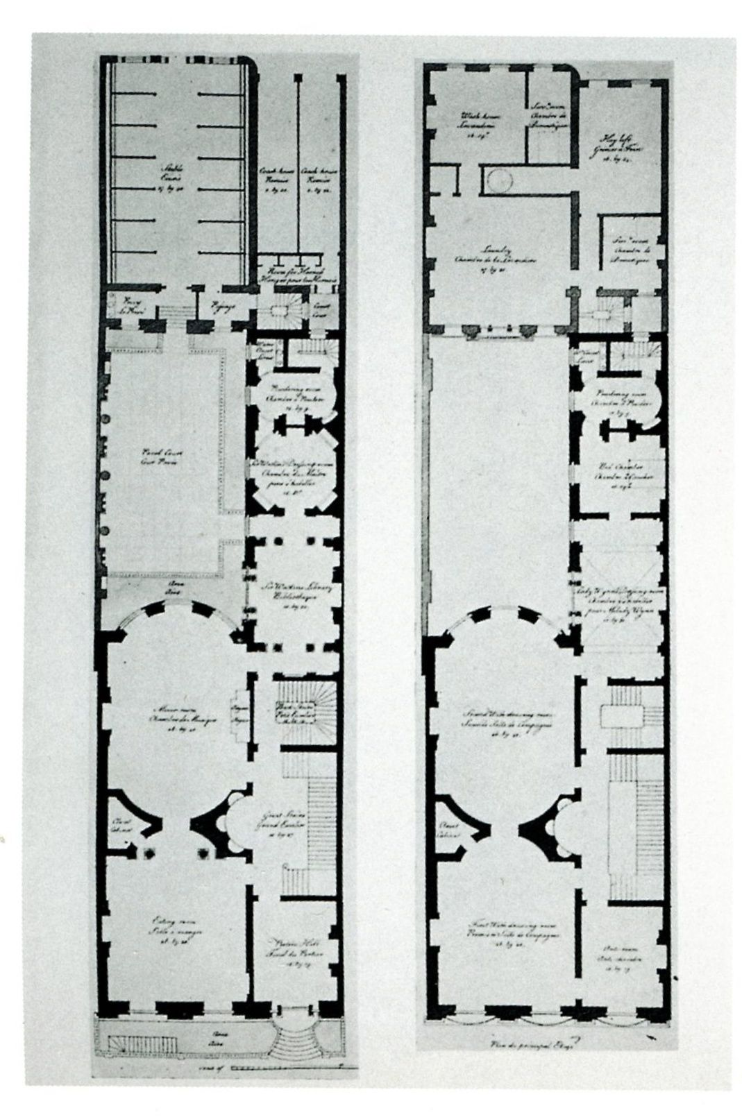 Wynn House ground floor and first floor plans 20 St Jamess