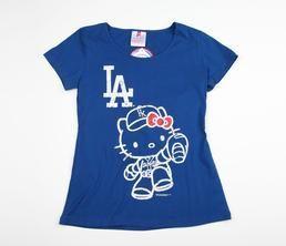Hello Kitty MLB Round Neck Tee: LA Dodgers