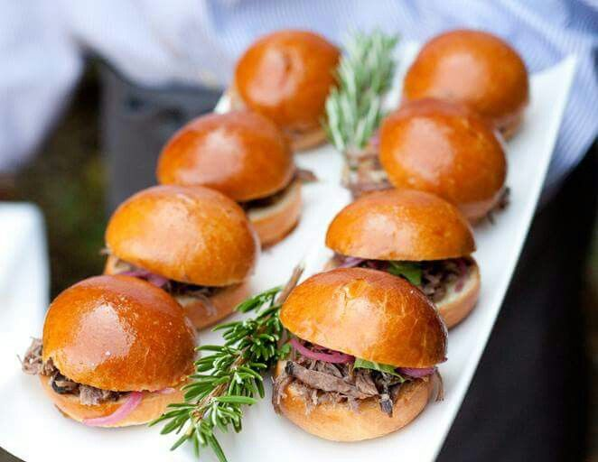 Sliders at a wedding!! What a great idea!!