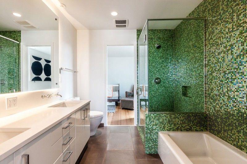 Rivestimento Bagno Mosaico Verde : Rivestimento in mosaico verde bagno home design green