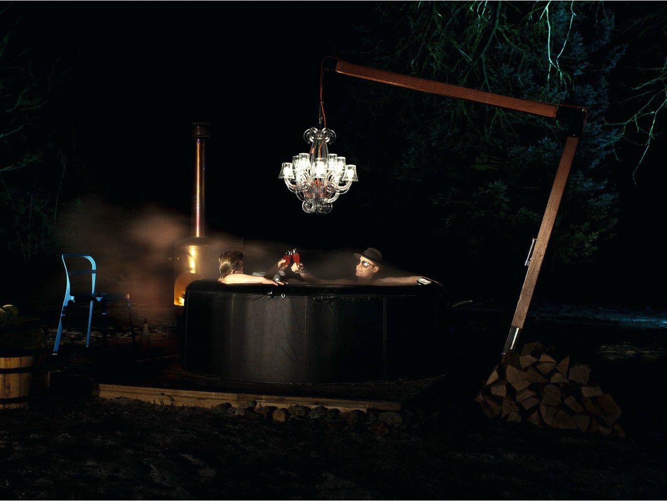 Led Polycarbonate Pendant Lamp Rockcoco By Fatboy Italia Design Demakersvan Contemporary Outdoor Furniture Pendant Lamp Chandelier