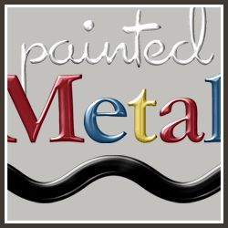 Free PSE & Photoshop Action - Painted Metal