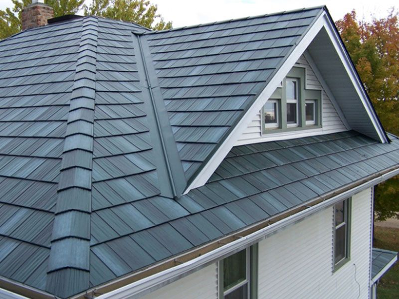 Steel Roofs Arrowline Roofing Steel Shingles Edco Metal Roofing Metal Shingle Roof Steel Shingles Roof Design