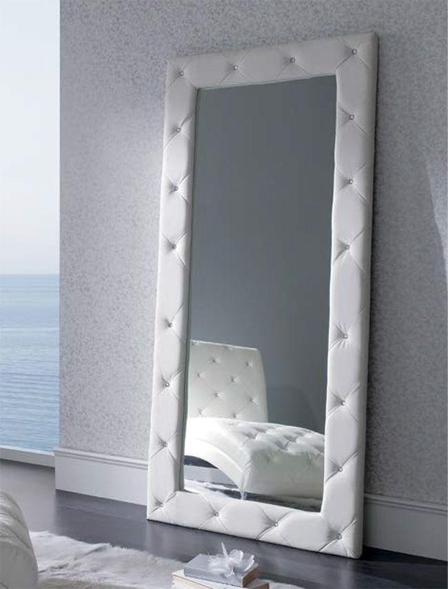 Espejo vestidor tapizado para el dormitorio apto en 2018 for Espejos para habitaciones