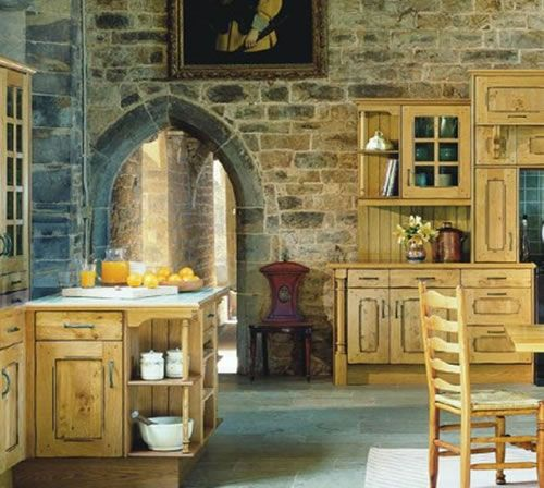 Stone Walls From The Inside With A Very Traditional Doorway And A Big Traditional French Country Interiors English Cottage Kitchens Country Kitchen Designs