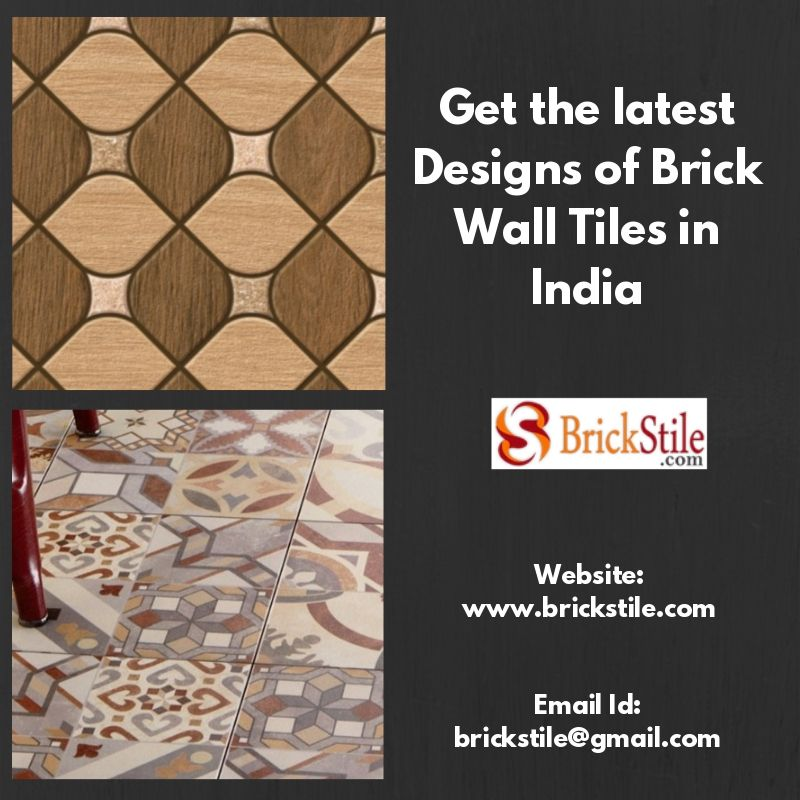 Get The Latest Designs Of Brick Wall Tiles In India Wall Tiles Clay Roof Tiles Brick Wall