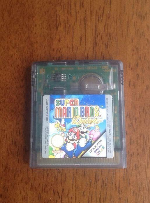 Super Mario Bros Deluxe Gameboy Color Game Cartridge Med Billeder