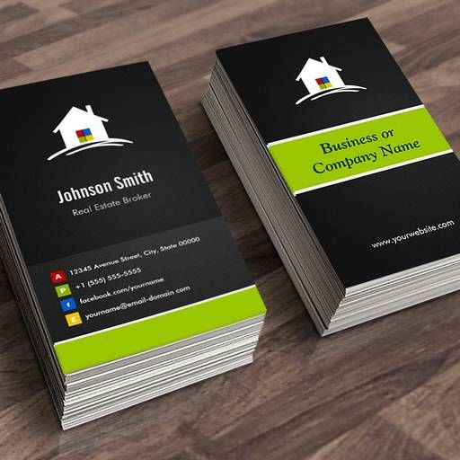 Make your own real estate business card real estate broker make your own real estate business card reheart Image collections