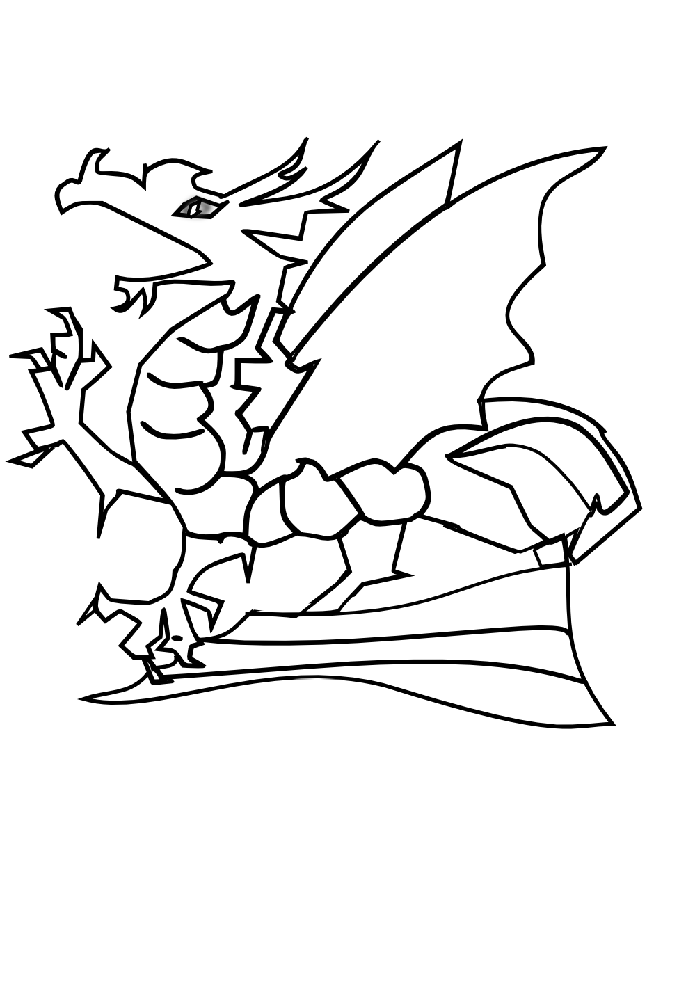 Baby-Dragon-Coloring-Pages.png (999×1413) | ART | Pinterest