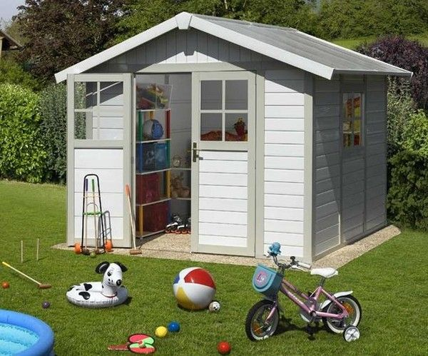 Attractive Grosfillex Deco 4.9 Pvc Garden Shed Summer House