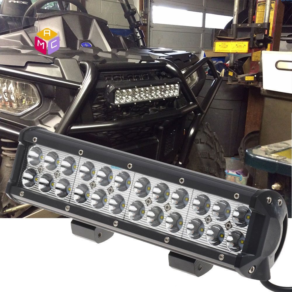 12 Led Work Light Bar Spot Fit Meyer Tractor Yamaha Rhino Side By Side Can Am Mac Led Work Light Work Lights Bar Lighting
