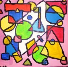 Ongekend In dit schilderij zitten eigenlijk alleen maar geometrische vormen YR-54