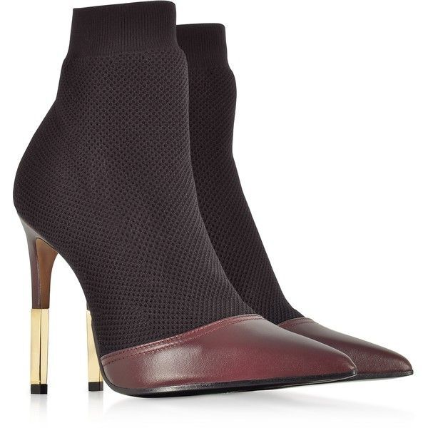 Aurore point-toe honeycomb-knit ankle boots Balmain 16iC0wSF