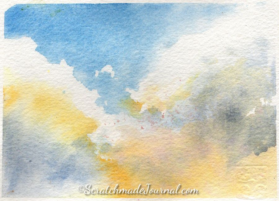 Watercolor Tutorial How To Paint Skies Clouds In 2020