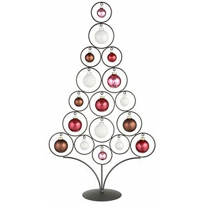 Weihnachtsdeko Zum Bestellen.Werbung Inge Glas Metallbaum Inkl 17 Tlg Glaskugelsortiment