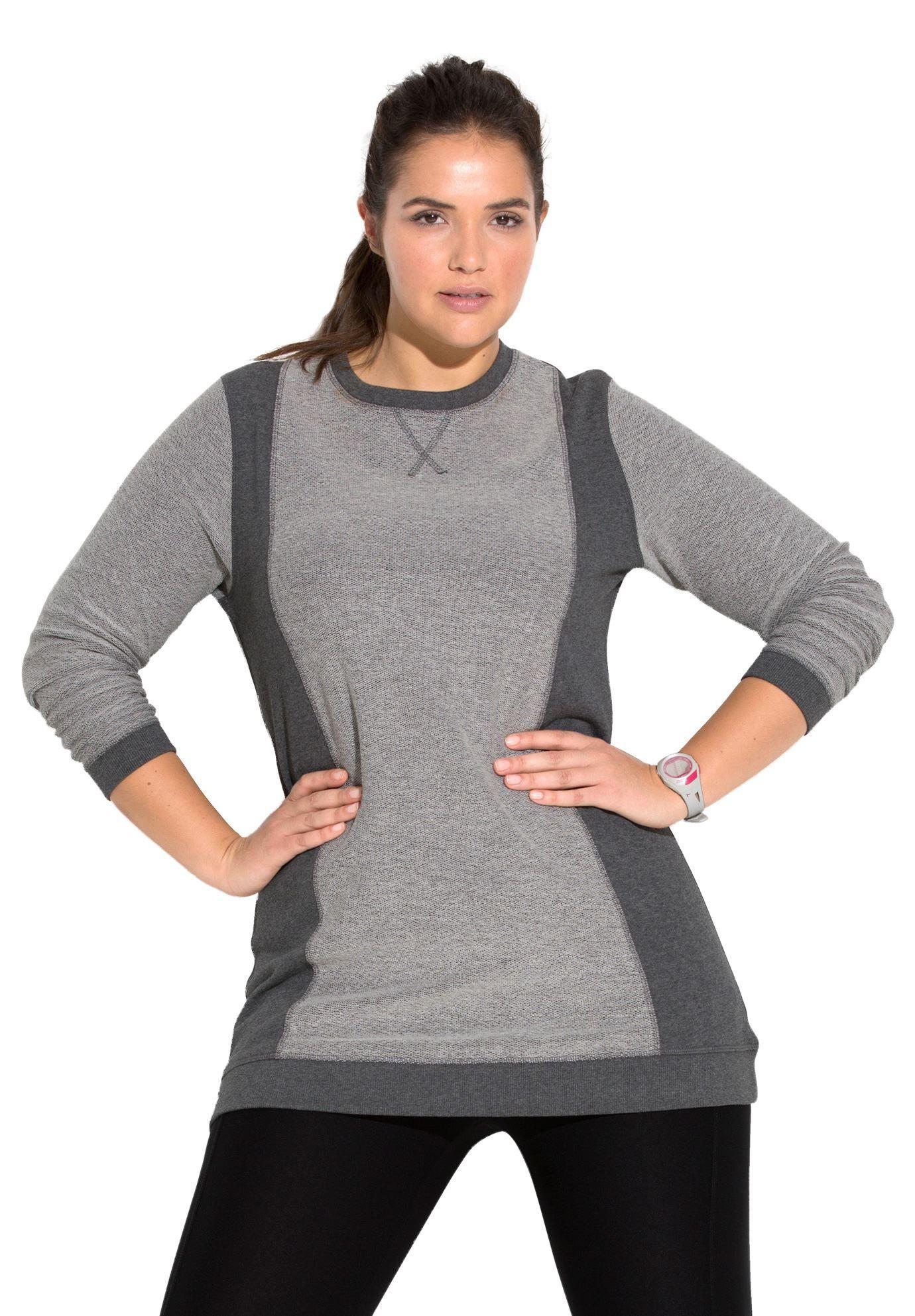 1af0ba457ae Plus Size Tunic sweatshirt | working on me | Plus size activewear ...