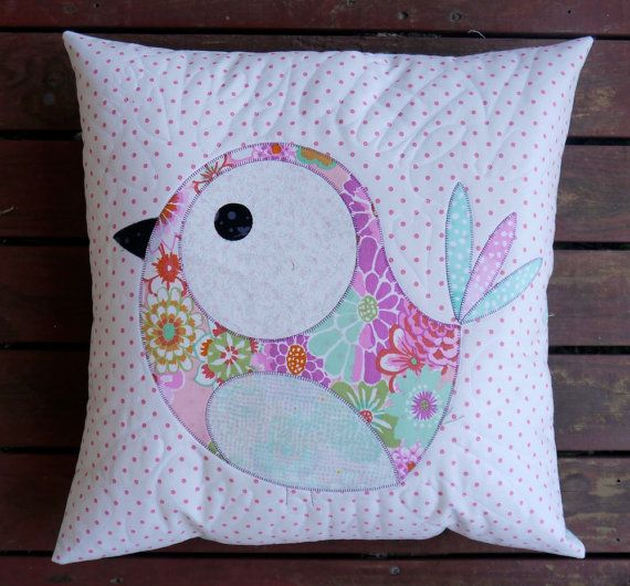 Pip and Ellie Applique Cushion PDF Pattern - instant download