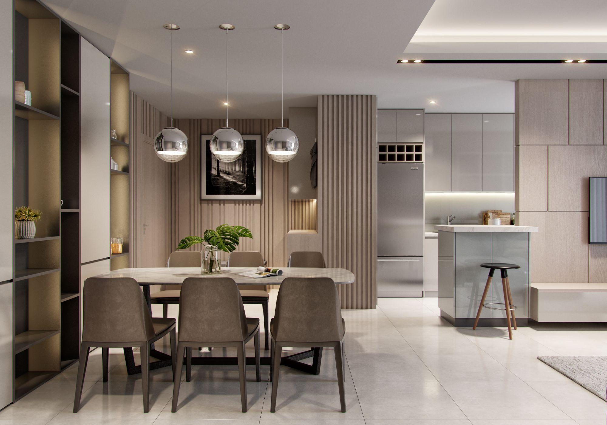 Apartment Interior Design Dining Room Condo Interior Design
