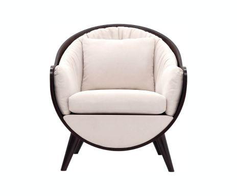 Poltrona in multistrato e lino Idea Relax - Bianco