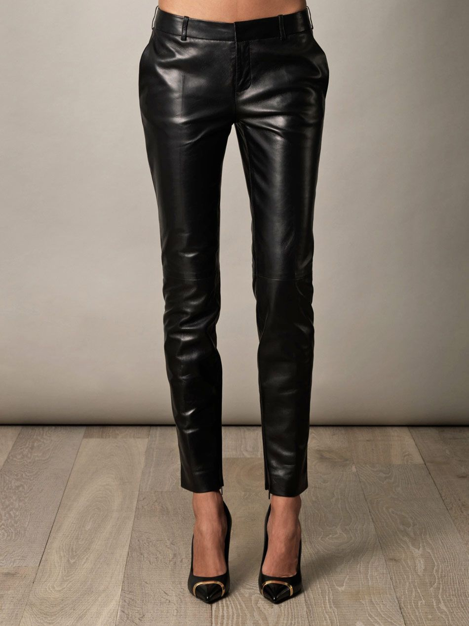 bd4622816b8 Pin by Athena Grey on Saint Laurent in 2019 | Leather trousers ...