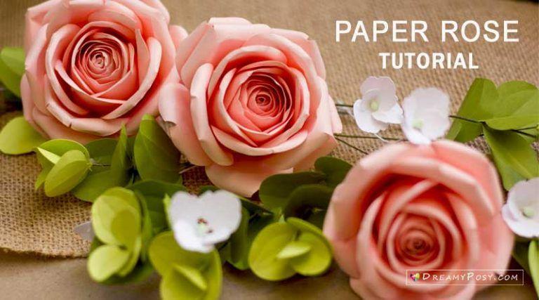 Paper Rose Tutorial Paper Roses Tissue Paper Flowers Paper